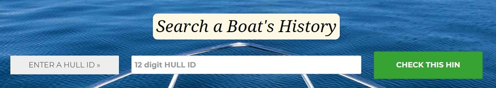 Search a Boat Hull ID history report with Boat-Alert.com